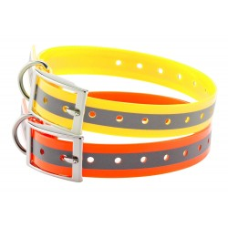 Collier pour chien - Country Collier Orange fluo - Tour de cour 41,5/58,5 cm-CH5522