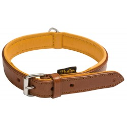 Colliers pour chien cuir marron, doublé cuir - Country Sellerie