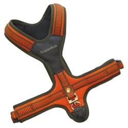 Harnais néoprène orange pour chien - Niggeloh Taille S / Tour de cou : 35 cm/ ventre : 39/63 cm.-CH6450