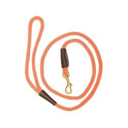 Laisses orange pour chien avec mousqueton - Country