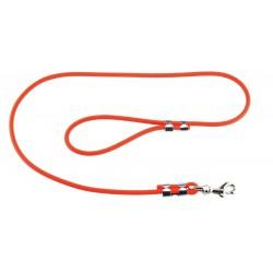 Laisse 1,20 m Biothane tubulaire orange pour chien - Helen Baud