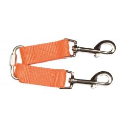 Accouple nylon orange fluo pour petits chiens