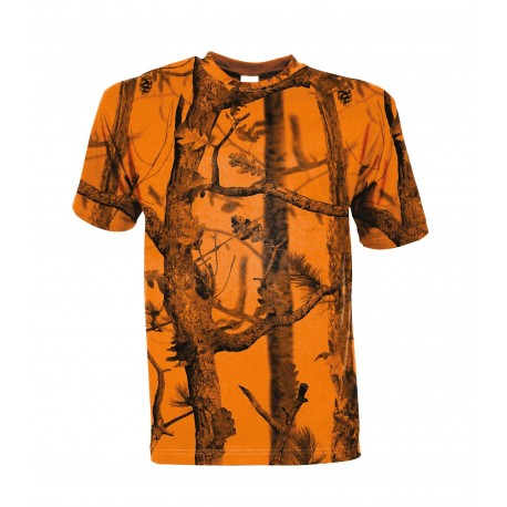 T-shirt chasse Ghost Camo Forest Fluo - Percussion