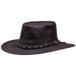 Chapeau Squashy KANGAROO brun foncé - Barmah Hats