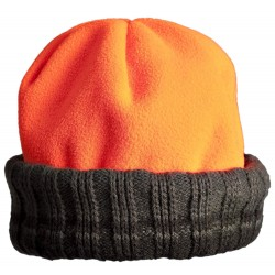 Bonnet Bob Polarfleece réversible vert orange