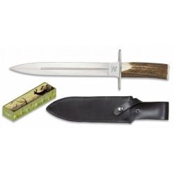 Dague chasse Albainox manche bois de cerf-LC9130