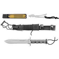 Couteau de survie combat King II Inox