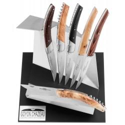 Présentoir design pour 6 couteaux Goyon-Chazeau