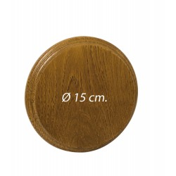 Ecusson en chêne pour grès et défenses de sanglier Diam.15 cm-A50254