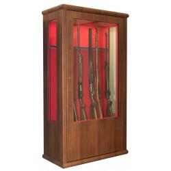 14 armes avec lunette - coffre intérieur - éclairage intérieur - côtés vitrés