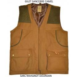 GILET SANCERRE CAMEL LG02538 : TAILLE - M