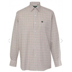CHEMISE ALAN PAINE ILKLEY CCHECK2 : TAILLE - M, Couleur - Blanc rayure rouge