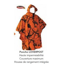 PONCHO LOVERGREEN LOVERPOST CAMO REALTREE 3D ORANGE