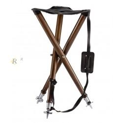 Siège trépied assise cuir luxe Hauteur 80 cm, CODE 26582