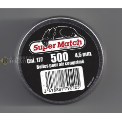 PLOMB SUPER MATCH TETE POINTU CAL.4.5 Bte 500 29136