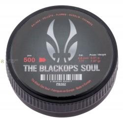 Boîte de 500PLOMBS THE BLACK OPS SOUL À TÊTE POINTUE CAL. 4,5 MM PB302