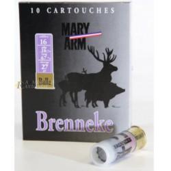 Cartouches MARY à balle Brenneke- Cal. 16/67 B16BRENN