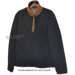 ALAN PAINE POLAIRE MANCHES ZIP NAVY HOMME AYLGZIP