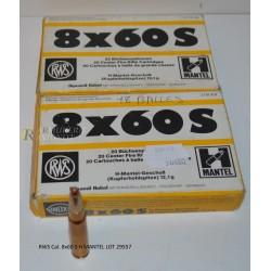 RWS Cal. 8x60 S H MANTEL LOT 29557