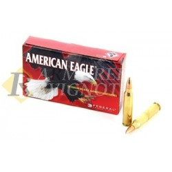223 5.5x45 AMERICAN EAGLE 55 GR FMJ BOAT-TAIL 622003