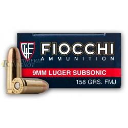 CARTOUCHES FIOCCHI CLASSIQUE C/9 LUGER SUBSONIC FMJ 158 GRS FI709016