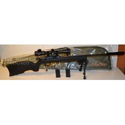 Pack Carabine Webley Scott 22LR acier avec bipied, fourreau, modérateur et lunette RTI 3-9x40