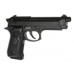 Réplique pistolet M92 gaz Noir GNB Réplique-PG1004