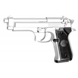 Réplique pistolet M92 gaz chrome GNB Réplique-PG1005