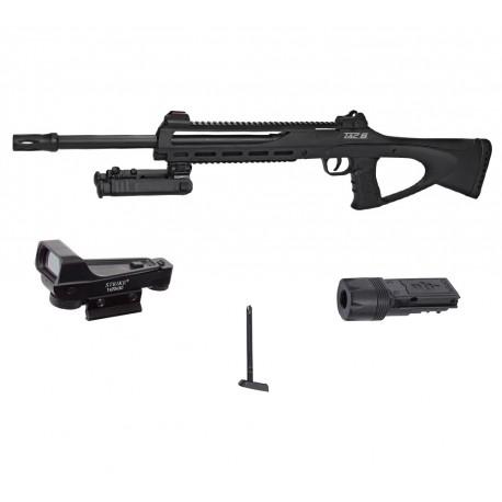 Pack sniper tac6 - CO2 + bi-pied + laser réglable + chargeur + red dot