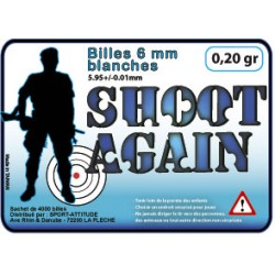 Billes shoot again carton de 25kg