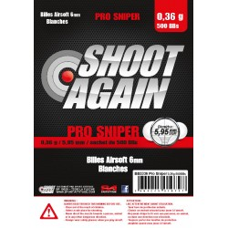 Billes 0.36g Pro Sniper - sachet de 500 billes - Shoot Again