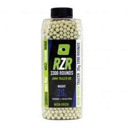 Billes RZR 0.20g bouteilles 3300bb TRACER vertes - Nuprol-BB9131