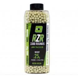 Billes RZR 0.25g bouteilles 3300bb TRACER vertes - Nuprol-BB9133