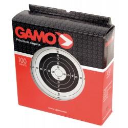 100 cibles cartonnées 14 x 14 cm - Gamo