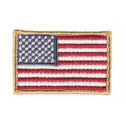 Patch brodé drapeau USA couleur 4 x 6cm-A60480