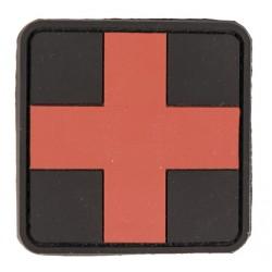 Patch PVC premier secours croix rouge 5.5 x 5.5cm-A60471