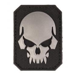 Patch PVC Tête de mort Noir 6 x 4.5cm-A60474