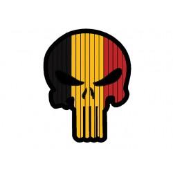 Patch PVC Skull Belge